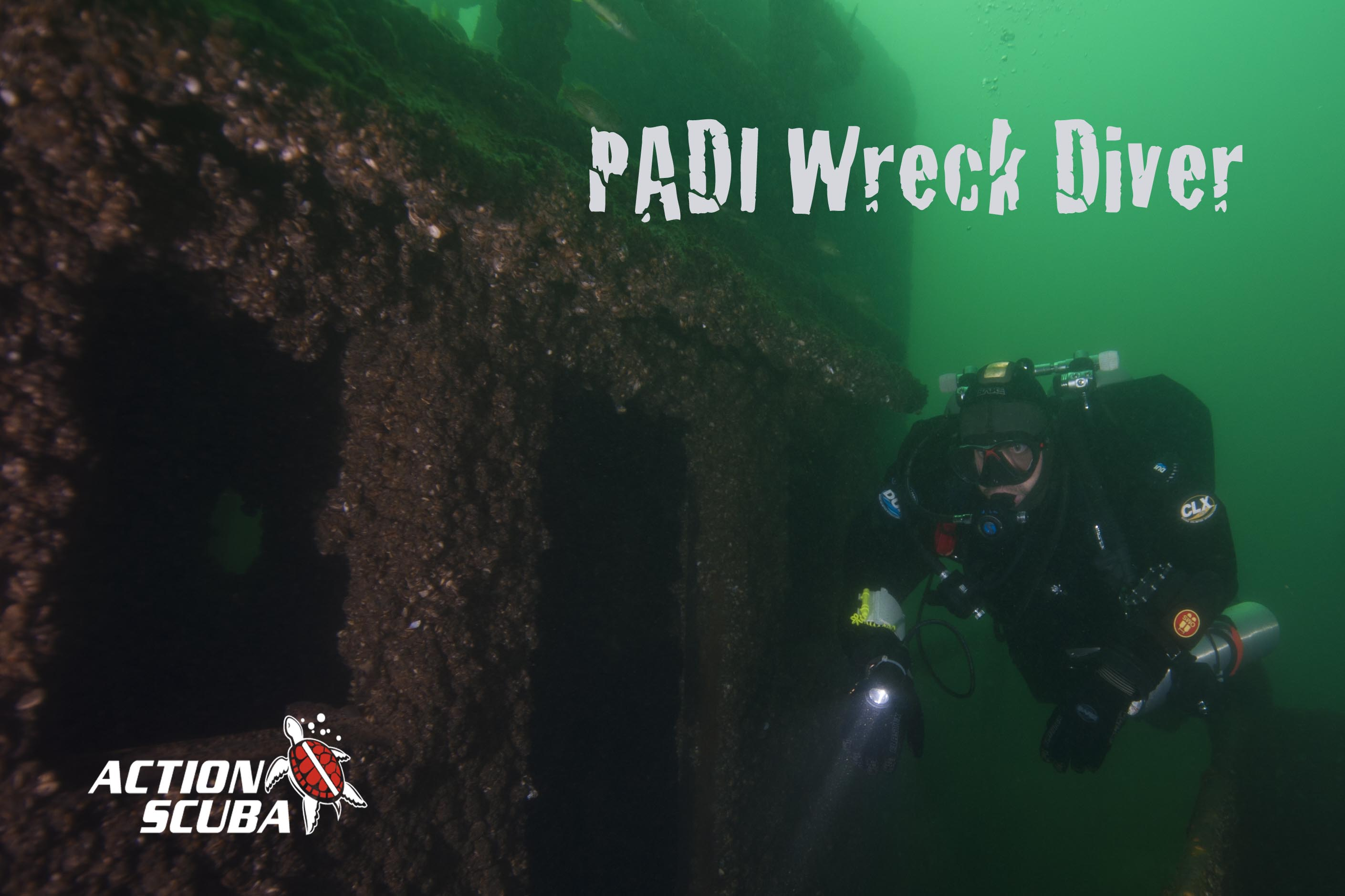 PADI Wreck Diver Course with Action Scuba Montreal
